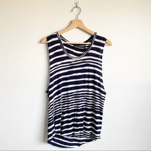 Reformation Stripe Tank Top Shirt Recycled M / L